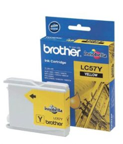 LC57Y-Brother LC-57Y Yellow Ink- FAX-2480C