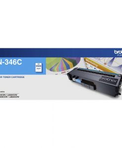 TN-346C-Brother TN-346C Colour Laser Toner- High Yield Cyan- HL-L8250CDN/8350CDW MFC-L8600CDW/L8850CDW - 3500Pages