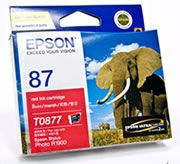 C13T087790-Epson T087 RedInk Cart Suits R1900