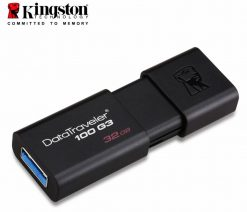 DT100G3/32GB-Kingston 32GB USB3.0 Flash Drive Memory Stick Thumb Key DataTraveler DT100G3 Retail Pack 5yrs warranty ~USK-DT100G3-32F DT100G3/32GBFR