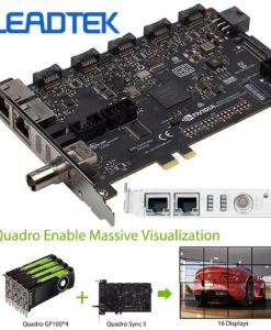 SYNC2-Leadtek nVidia Quadro SYNC II Card to connects up to 32 4K Synchronized Displays for GP100 P4000 P5000 P6000 Project Overlay & Stereoscopic Display