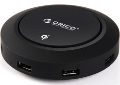 OCP-5US-BK-ORICO 5 Port USB Charger with QI Wireless Charging Mode