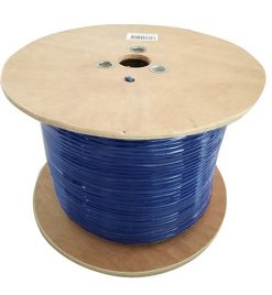 CAT6A-EXT350BLU-8Ware Cat6A Underground/External Cable Roll 350m Blue Bare Copper Twisted Core PVC Jacket