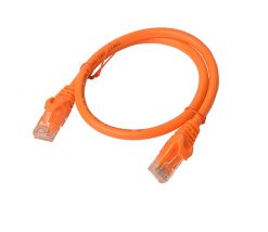 PL6A-0.25ORG-8Ware Cat6a UTP Ethernet Cable 25cm Snagless Orange