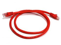 PL6A-0.25RD-8Ware Cat6a UTP Ethernet Cable 25cm Snagless Red