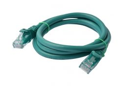 PL6A-1GRN-8Ware Cat6a UTP Ethernet Cable 1m Snagless Green