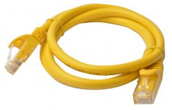PL6A-1YEL-8Ware Cat6a UTP Ethernet Cable 1m Snagless Yellow