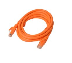 PL6A-2ORG-8Ware Cat6a UTP Ethernet Cable 2m Snagless Orange