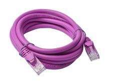PL6A-2PUR-8Ware Cat6a UTP Ethernet Cable 2m Snagless Purple