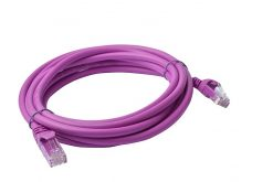 PL6A-3PUR-8Ware Cat6a UTP Ethernet Cable 3m Snagless Purple