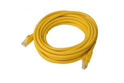 PL6A-5YEL-8Ware Cat6a UTP Ethernet Cable 5m Snagless Yellow