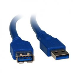 UC-3001AAE-8Ware USB 3.0 Cable 1m A to A Male to Female Blue