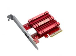 XG-C100C-Asus XG-C100C 10GBase-T PCIe Network Adapter with backward compatibility of 5/2.5/1G and 100Mbps ; RJ45 port and built-in QoS