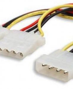 """AT-MOLEX-PWR-Astrotek Internal Power Molex Cable 20cm - 5.25"""" 4 pins Male to 2x 5.25"""" 4 pins Female 18AWG RoHS"""