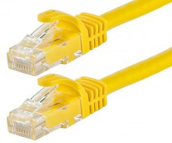 AT-RJ45YELU6-025M-Astrotek CAT6 Cable 25cm/0.25m - Yellow Color Premium RJ45 Ethernet Network LAN UTP Patch Cord 26AWG-CCA PVC Jacket