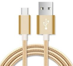 AT-USBMICROBG-3M-Astrotek 3m Micro USB Data Sync Charger Cable Cord Gold Color for Samsung HTC Motorola Nokia Kndle Android Phone Tablet & Devices