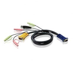 2L-5303U-Aten 3.0m 3in1 VGA + 3.5mm Stereo Audio + Mic