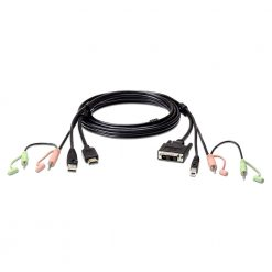 2L-7D02DH-Aten USB HDMI to DVI-D KVM Cable with Audio (1.8M cable)
