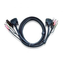 2L-7D03UI-Aten 3.0m DVI-I (Single Link) Male to Male with USB Type A Male to Type B Female