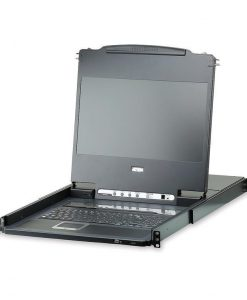 "CL6708MW-ATA-AU-Aten Rackmount USB DVI Single Rail 17.3"" Widescreen Full HD LCD KVM 8-port Switch"