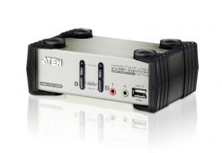 CS1732B-AT-U-Aten 2 Port USB KVMP Switch with audio and OSD / USB 2.0 Hub - Cables Included