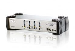 CS1734AC-AT-Aten 4 Port USB VGA KVMP Switch with Audio and USB 1.1 Hub - Cables Included