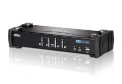 CS1764A-AT-U-Aten 4 Port USB DVI KVMP Switch with Audio and USB 2.0 Hub - Cables Included