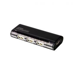 UH284Q9Z-AT-Aten 4 Port Magnetic USB 2.0 HUB WITHOUT Power Adapter Black