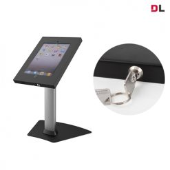 BT-PAD12-04AL-Brateck Anti-Theft Secure Enclosure Countertop Stand for iPad- Black with Adjustable Height Functio