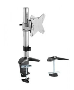"""LDT-02-C01-Brateck Single Monitor Table Stand Arm & Desk Clamp VESA 75/100mm Up to 27"""""""