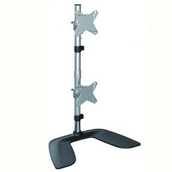 LDT02-T02V-Brateck Dual  Monitor Vertical Desk Stand from 13''-27""