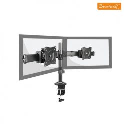LDT06-C02-Brateck  Dual Monitor Arm with Desk Clamp VESA 75/100mm Up to 27""