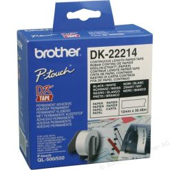 DK-22214-Brother White Paper Roll 12mm x 30.48. DK-22214. For use with QL-500