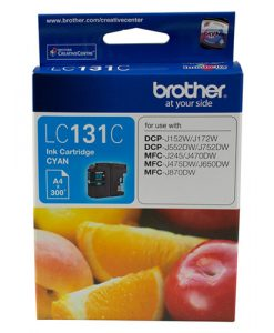 LC-131C-Brother LC-131C  Cyan Ink Cartridge - to suit DCP-J152W/J172W/J552DW/J752DW/MFC-J245/J470DW/J475DW/J650DW/J870DW - up to 300 pages