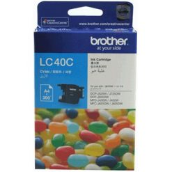 LC-40C-Brother LC-40C  Cyan Ink Cartridge- to suit DCP-J525W/J725DW/J925DW