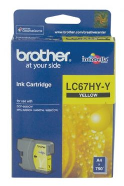 LC-67HYY-Brother LC-67HYY Yellow High Yield Ink Cartridge- DCP-6690CW