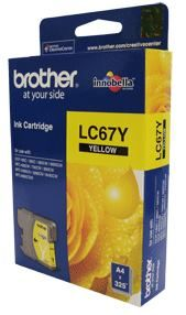 LC-67Y-Brother LC-67Y Yellow Ink Cartridge- to suit DCP-385C/395CN/585CW/6690CW/J715W