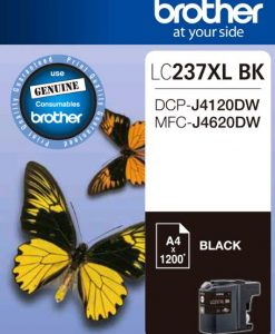 LC237XLBK-Brother LC237XLBKS Black Ink Cartridge - to suit DCP-J4120DW/MFC-J4620DW - up to 1200 pages