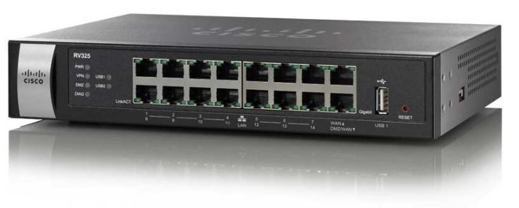 RV325-K9-AU-Cisco RV325 Dual WAN VPN Router with Web Filtering
