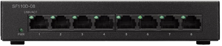 SF110D-08-AU-Cisco 8 Port 10/100 Unmanaged Switch