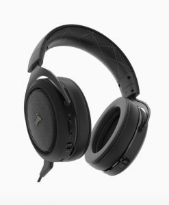 CA-9011175-AP-Corsair HS70 Wireless Gaming Headset Carbon. Up to 16hrs of Playback. PC and PS4 Compatible. 2 Years Warranty