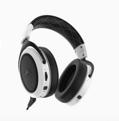 CA-9011177-AP-Corsair HS70 Wireless Gaming Headset White with Black. Up to 16hrs of Playback. PC and PS4 Compatible. 2 Years Warranty