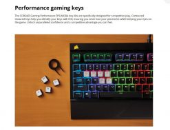 CH-9000233-NA-Corsair Gaming Performance FPS/MOBA Key Kit- White