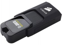 CMFSL3X1-32GB-Corsair Flash Voyager Slider X1 32GB USB 3.0 Flash Drive - Capless Design Read 130MBs Plug and Play