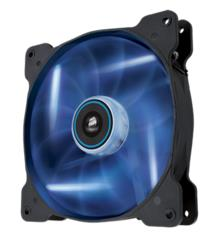 CO-9050017-BLED-Corsair Air Flow 140mm Fan Quiet Edition w/Blue LED 3 PIN - Superior cooling performance and LED illumination (LS)