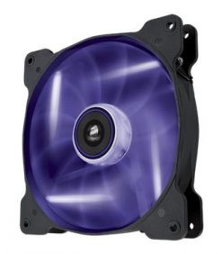 CO-9050017-PLED-Corsair Air Flow 140mm Fan Quiet Edition w/Purp LED 3 PIN - Superior cooling performance and LED illumination (LS)