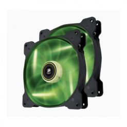 CO-9050037-WW-Corsair SP 140mm Fan with Green LED High Pressure Twin Pack! (LS)