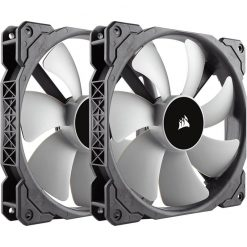 CO-9050044-WW-Corsair ML140 140mm Premium Magnetic Levitation Fan — Twin Pack