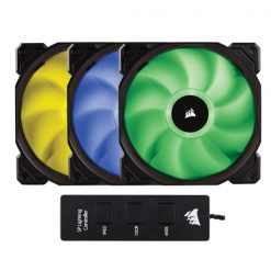 CO-9050061-WW-Corsair Static Pressure 120mm RGB LED Fan