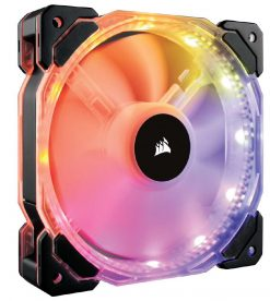 CO-9050069-WW-Corsair HD 140mm PWM RGB LED Fan with Controller. Twin Pack